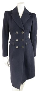 Burberry London Double-breasted Wool Hour-glass Lapel Pea Coat