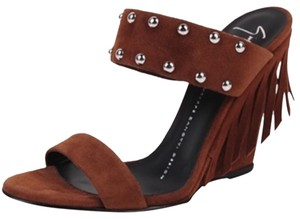 Giuseppe Zanotti Brown suede Wedges