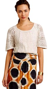 Anthropologie Great Quality Lace Top Ivory