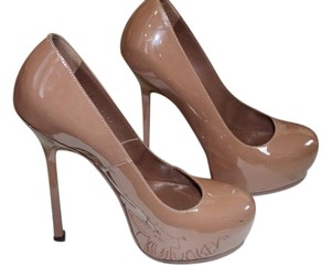 Saint Laurent Yves Nude Beige Pumps