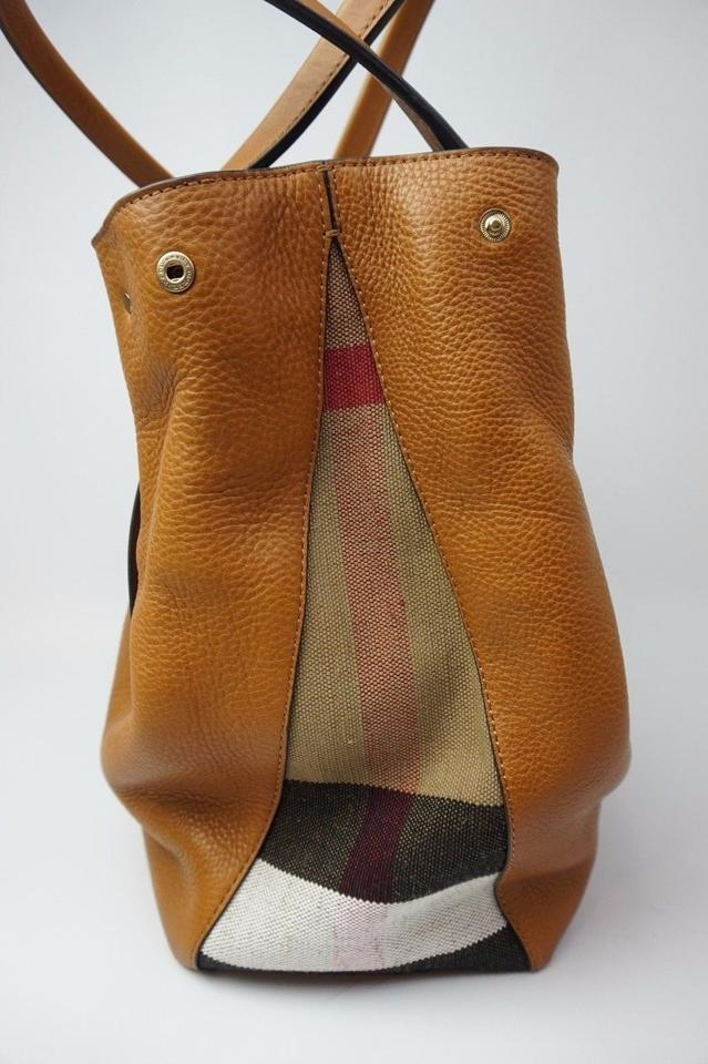 d6ea434b050d Burberry Medium Maidstone Saddle with Check Gussets Brown Leather ...
