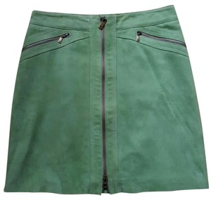 Michael Kors Suede Skirt Green