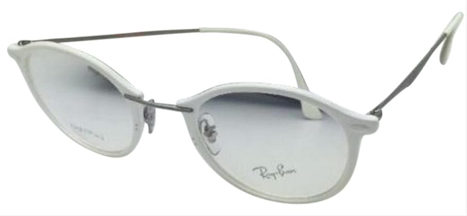Ray-Ban New Rx-able Light Ray Rb 7073 5616 49-21 White-gunmetal ...