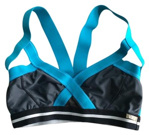VPL insertion sports bra blue gray black