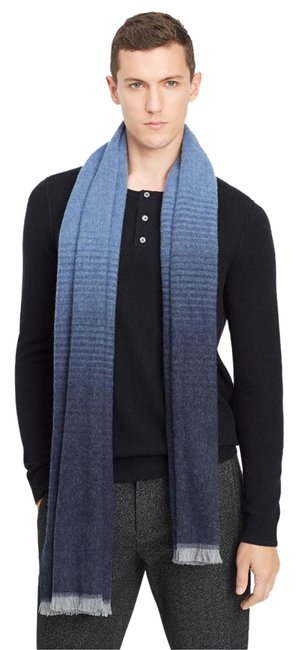 Item - Blue Ombre Degrade Wool Scarf/Wrap