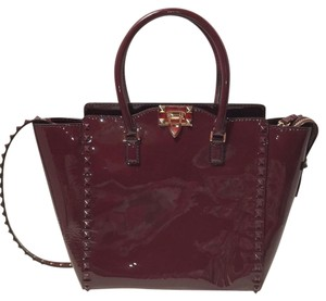 Valentino Satchel in Burgundy
