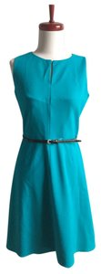 Calvin Klein Sleeveless Petite Fit And Flare Dress