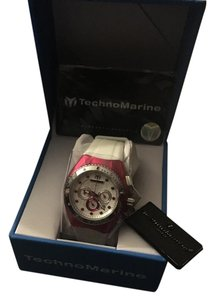 TechnoMarine Womens cruise beach chronic white silicone silver