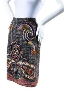 Missoni 2002 Collectable 001150 Mohair Knit Skirt Multi-Color