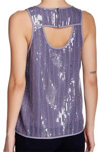 Ro & De Sequin Blouse Top purple