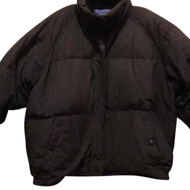 Eddie Bauer Black with Periwinkle Lining Coat Size 8 (M) Eddie Bauer Black with Periwinkle Lining Coat Size 8 (M) Image 1