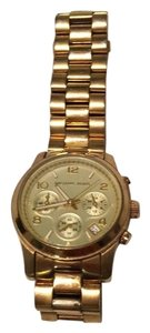 Michael Kors Oversized Gold Played Watch