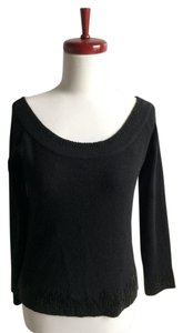 Dana Buchman Cashmere Beaded Scoop Neck Sweater