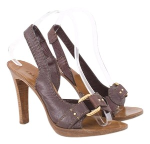 Chloé Chloe Dorsay Slingback Brown Pumps