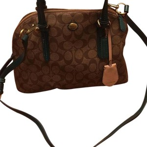 Coach Satchel in Teal Brown