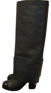 Chanel Knee High Black Boots