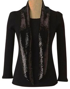 Anthropologie Elegant Bling Attached Scarf Sweater