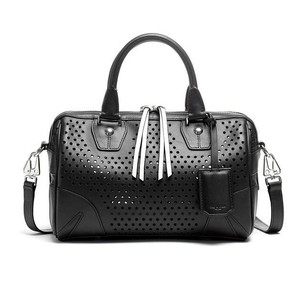 Rag & Bone New With Tags Designer Leather See Through Hipster Satchel in Black