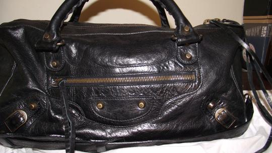 Balenciaga Great Condition Designer Neiman Marcus Satchel in Black