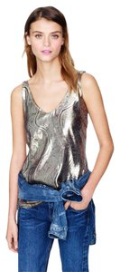 J.Crew Top Gold, silver, black