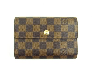 Louis Vuitton Damier Leather Continental Clutch Trifold Long Wallet w/ Box