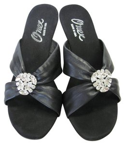 Other Size 10.00 M Rhinestone Very Good Condition Black Sandals