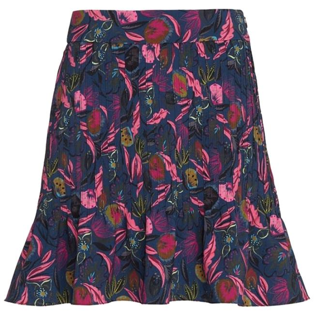 Item - Navy and Pink Lou Printed Matelasse Skirt Size 4 (S, 27)