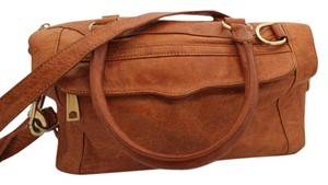 Rebecca Minkoff Leather Convertible Satchel in Camel