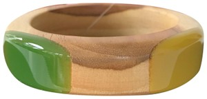 Tory Burch New Tory Burch Wood Green Resin Bangle Bracelet Size Small