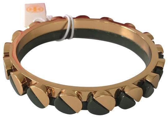 Preload https://img-static.tradesy.com/item/2020519/tory-burch-gold-tone-green-connor-and-bangle-size-small-bracelet-0-2-540-540.jpg