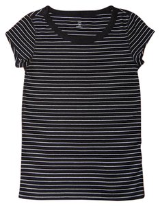 Gap Striped Black T Shirt Black/White