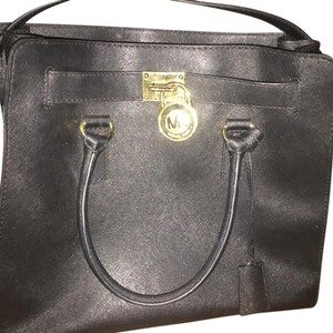 Michael Kors Wallet And Large Hamilton Leather Tote in Black
