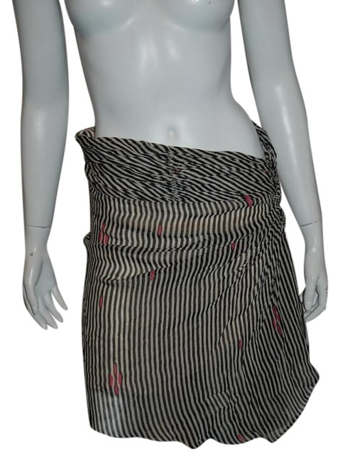 Item - Black/White Etoile W 111016 Ruched B/W Silk Holiday 38/6 Skirt Size 6 (S, 28)