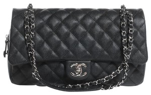 Chanel Caviar Jumbo Single Flap Shoulder Bag