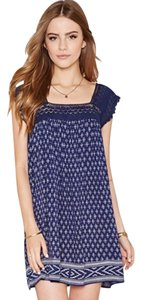 Forever 21 short dress Navy/Cream on Tradesy