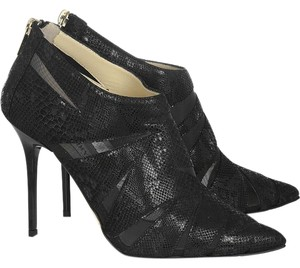 Jimmy Choo Suede Pointed Toe Cut-out Black Boots