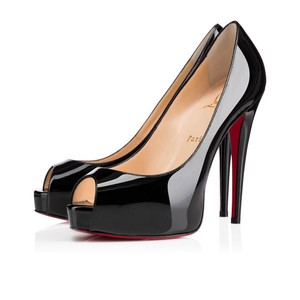 Christian Louboutin Patent Leather Black/Red Pumps
