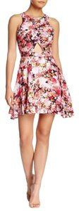 Modiste short dress Pink Cut Out Flowers on Tradesy