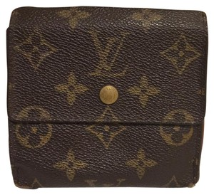 Louis Vuitton K215 Louis Vuitton Wallet Coin Case Purse Browns Monogram