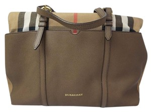 Burberry Taupe Diaper Bag