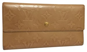 Louis Vuitton K219 Monogram Vernis Long Coin Case Purse Wallets