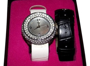 Paris Hilton Paris Hilton Rhinestone Watch Black White