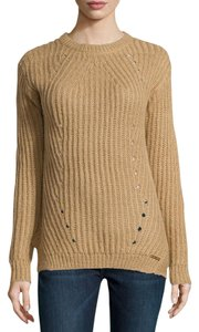 Michael Kors Chunky Knit Crew Neck Fitted Sweater