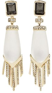 Alexis Bittar Alexis Bittar Long Chevron Fringe Dazzling Red Carpet CLIP Earrings
