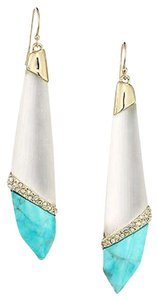 Alexis Bittar Alexis Bittar White Lucite Turquoise Long Tear Dazzling Red Carpet Earrings