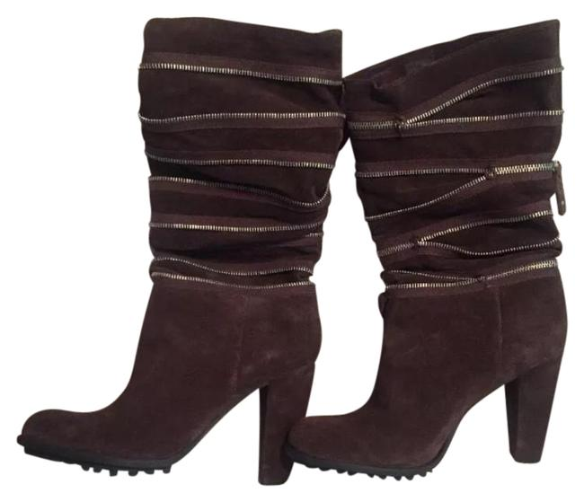 Item - Brown Ego High Heel Zipper Boots/Booties Size US 8.5 Regular (M, B)