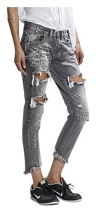 One Teaspoon Straight Leg Jeans-Distressed
