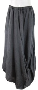 Cynthia Ashby Gray Linen Maxi Skirt