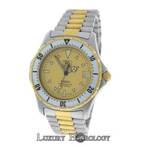 TAG Heuer Mens Tag Heuer 2000 Ref. 974.006 Steel 18K Yellow Gold Date 38mm