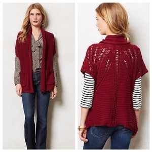 Anthropologie- Angel of the North Sweater Cotton Cardigan